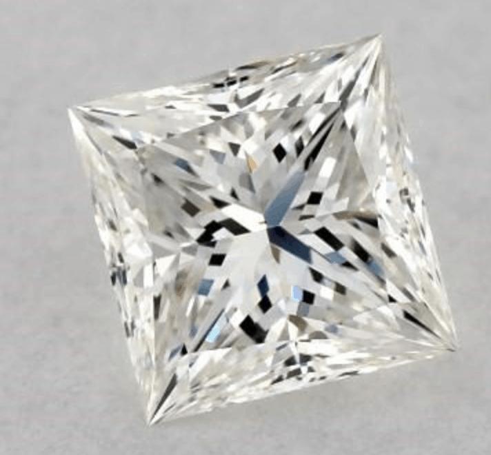 h color princess cut diamond 1.01 carat