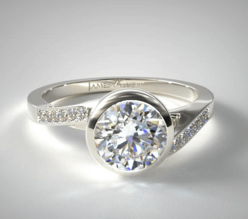 james allen pave setting diamond engagement ring