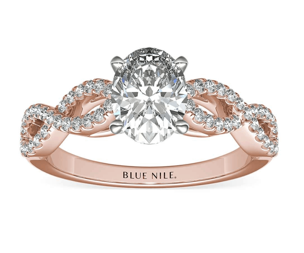 blue nile infinity twist diamond engagement ring
