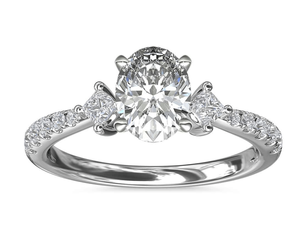 blue nile pave diamond engagement ring 14k