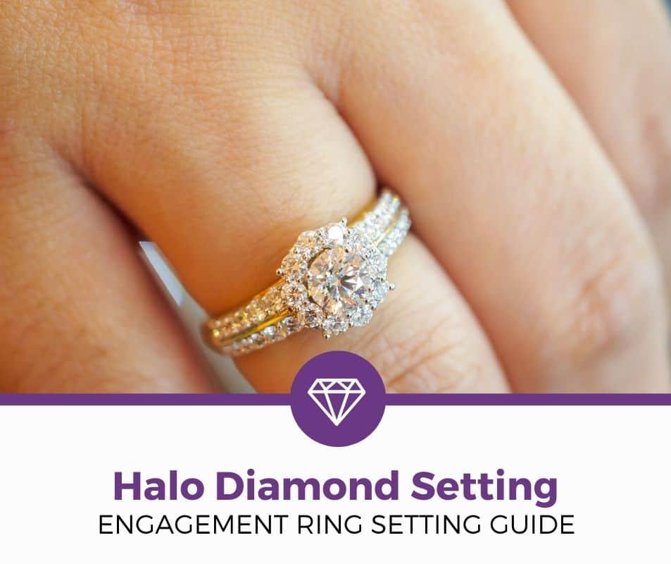halo diamond setting guide