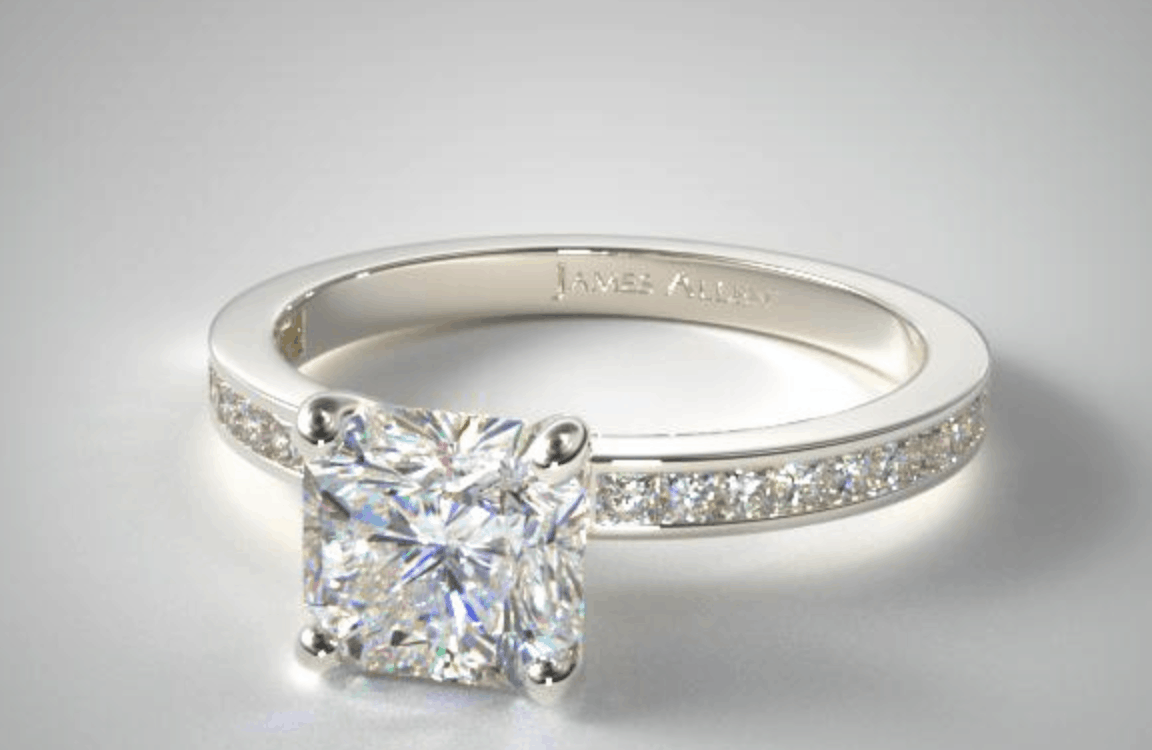 james allen channel setting diamond ring
