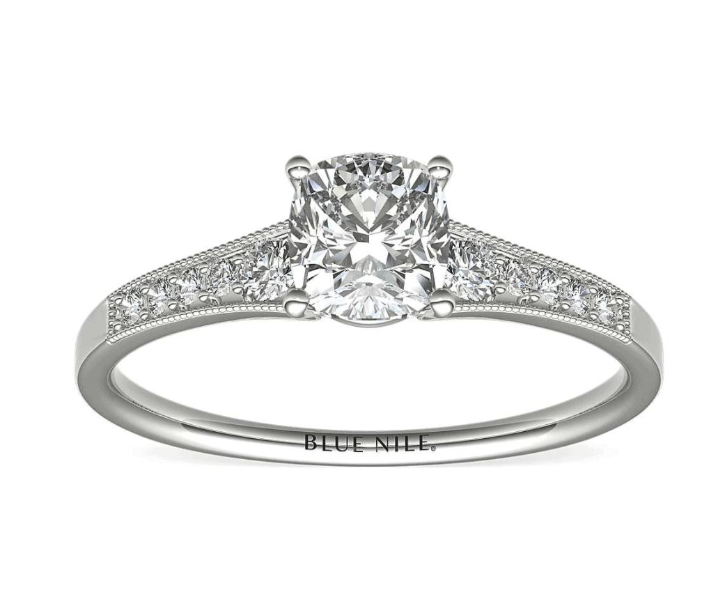 blue nile diamond engagement ring