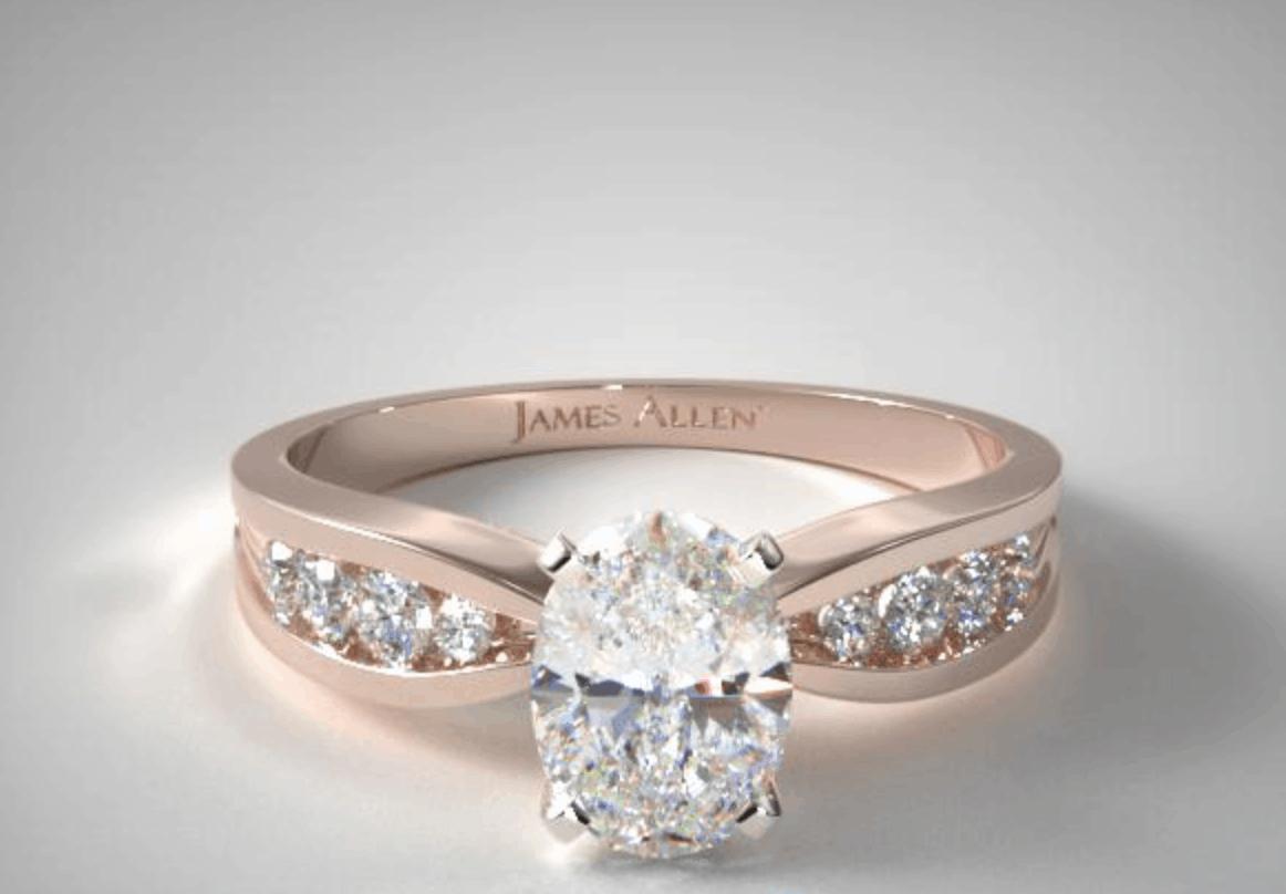 james allen channel set diamond engagement ring