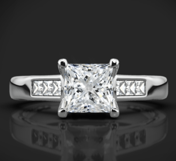 whiteflash diamond engagement ring
