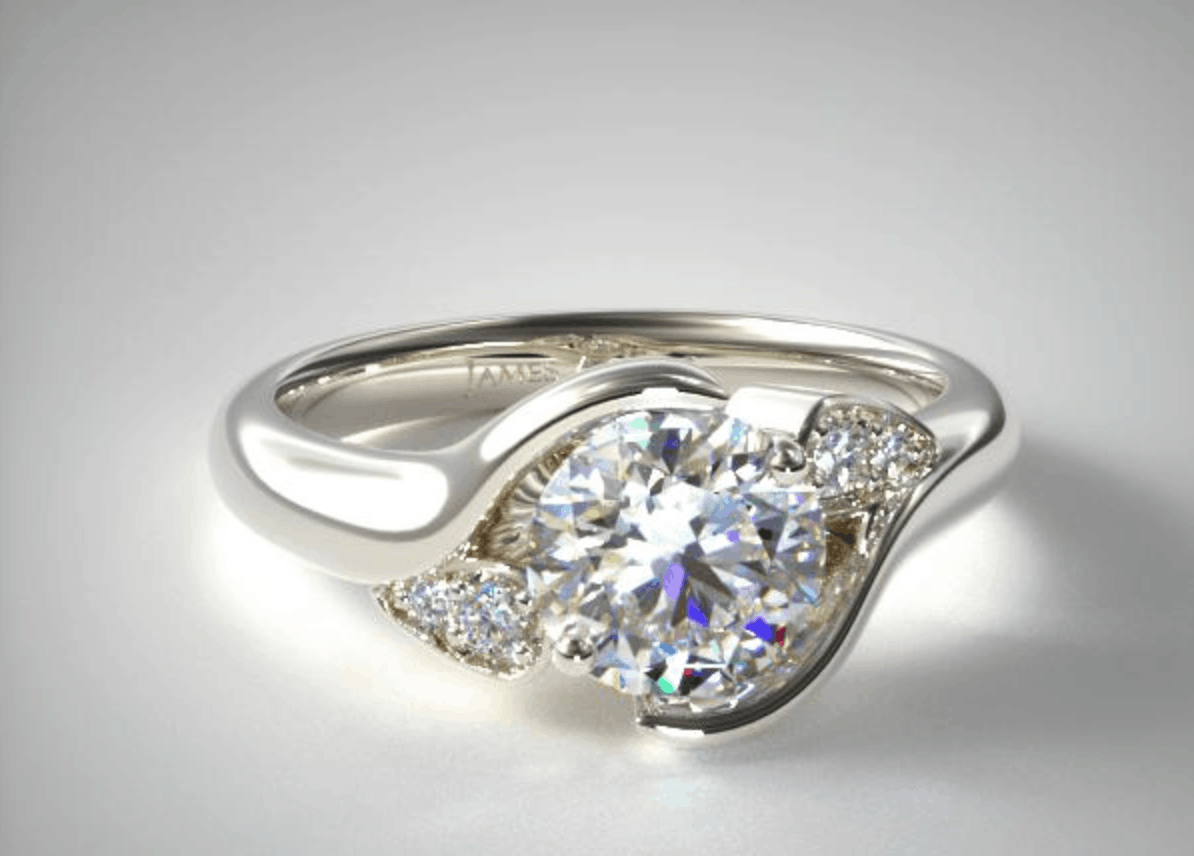 james allen white gold modern engagement ring