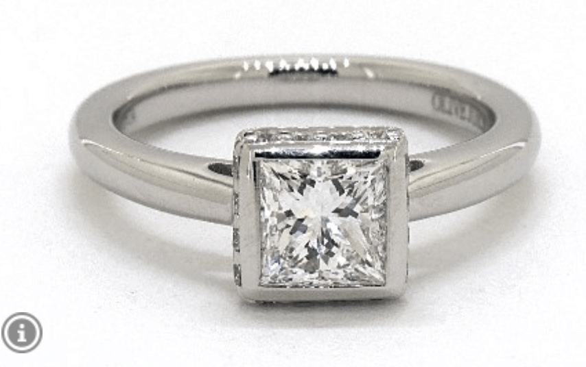 james allen pave crown engagement ring
