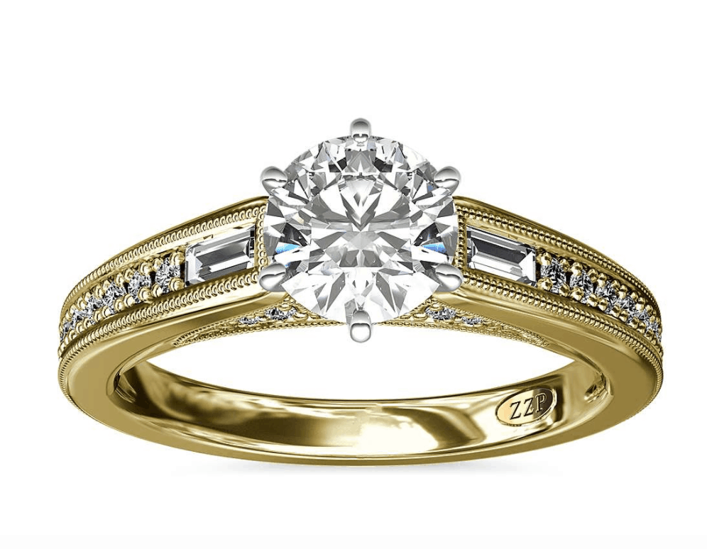 blue nile 14k diamond engagement ring