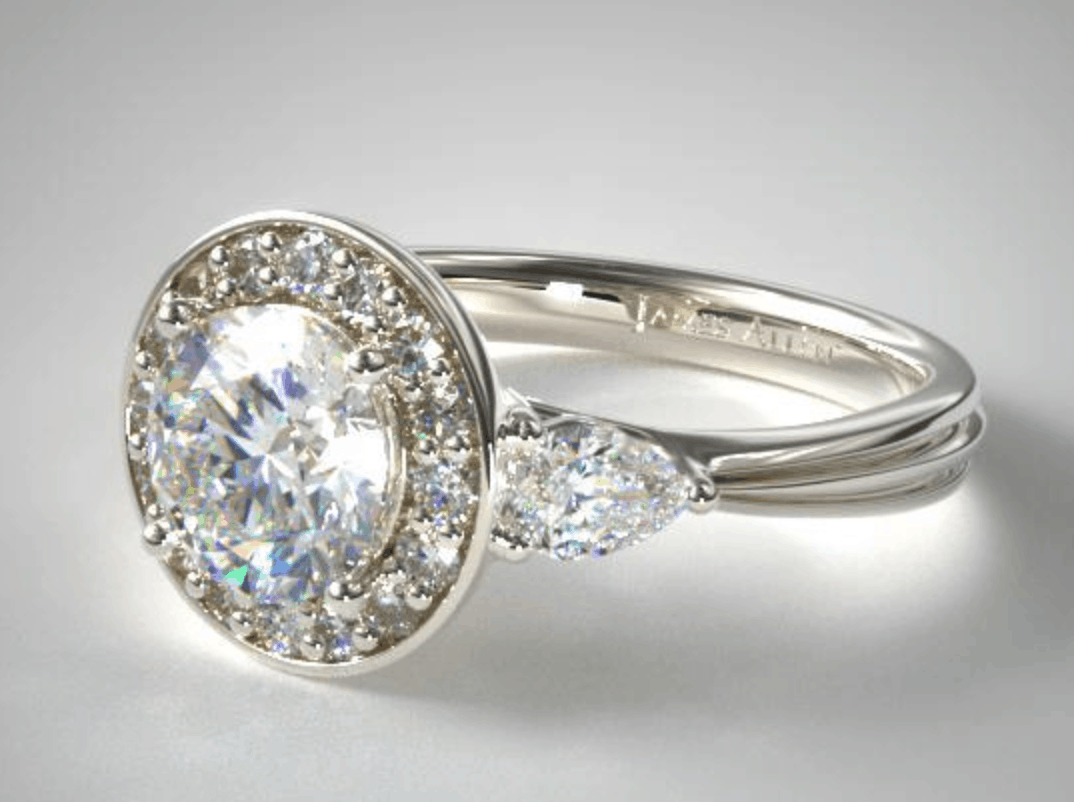 james allen halo engagement ring