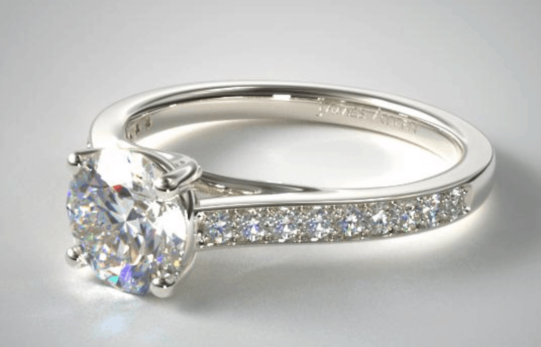 james allen pave diamond engagement ring