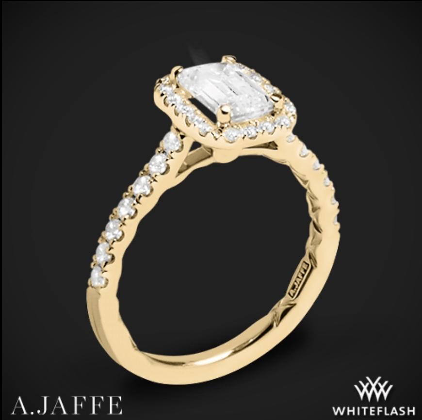 whiteflash halo diamond engagement ring