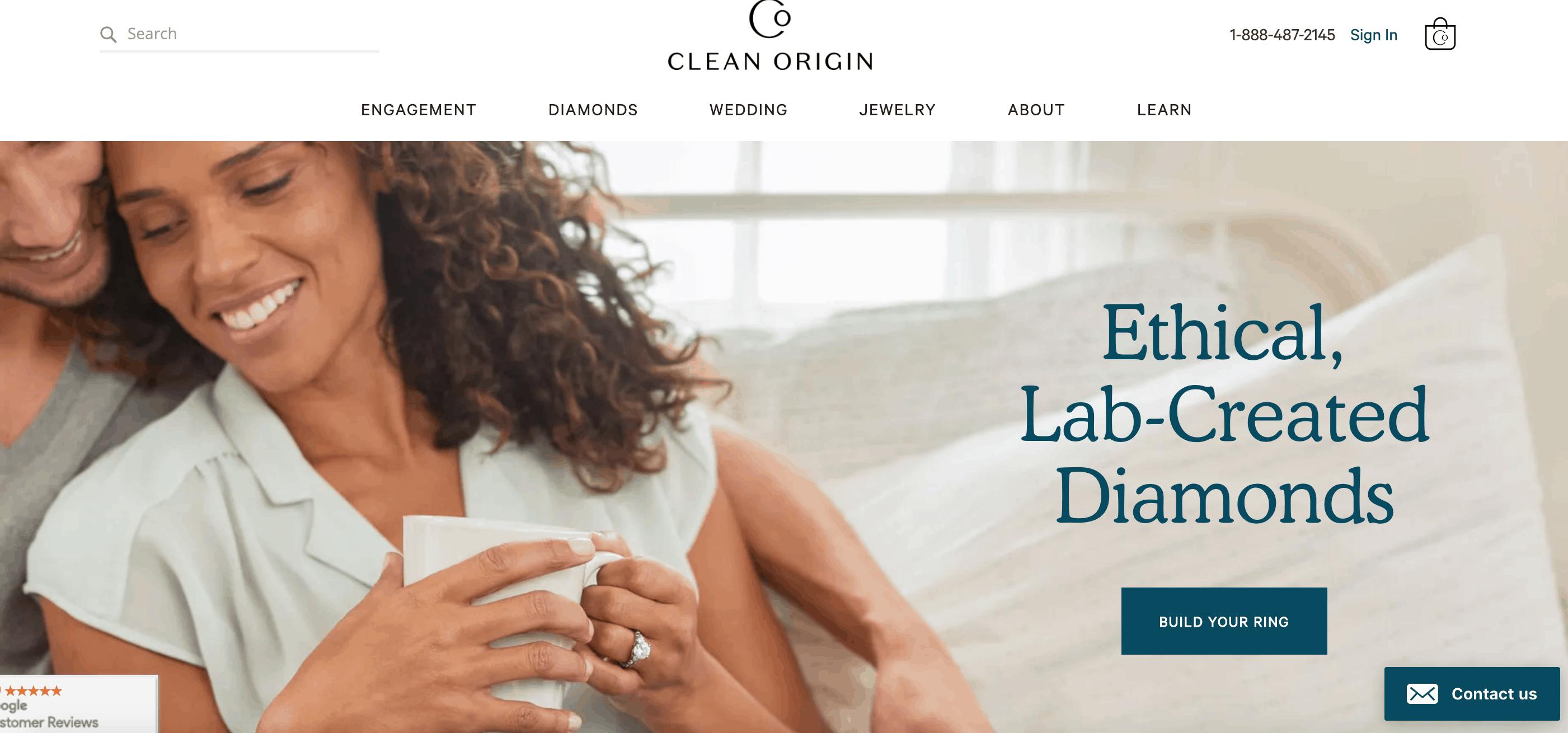 clean origin website
