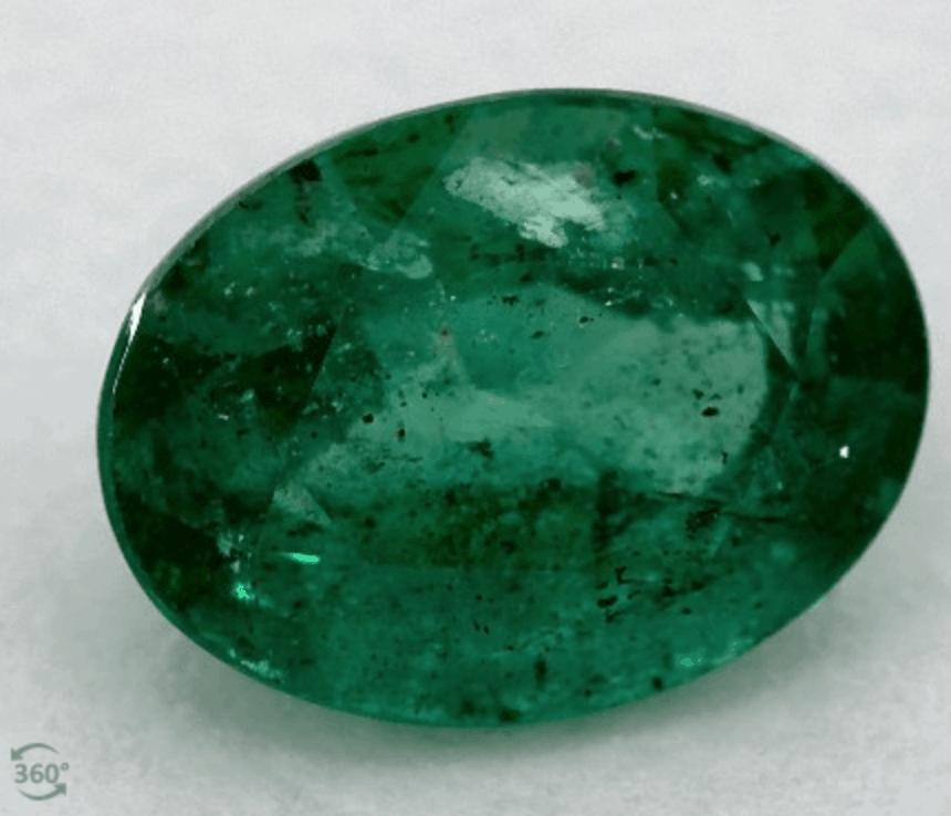 James Allen 1.23 carat emerald gemstone