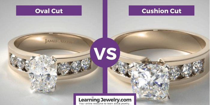 oval cut vs cushion cut diamond shape
