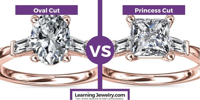oval cut vs princess cut diamond shape