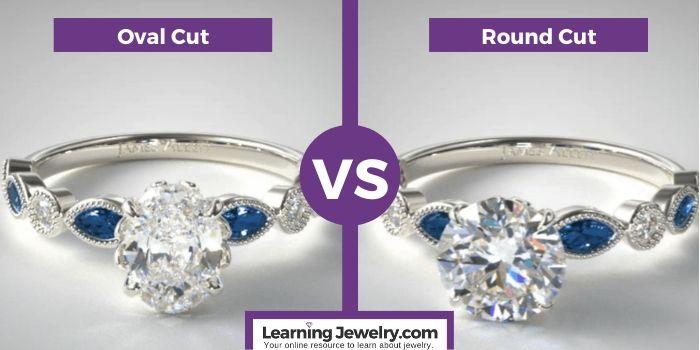 oval cut vs round cut diamond shape (1)