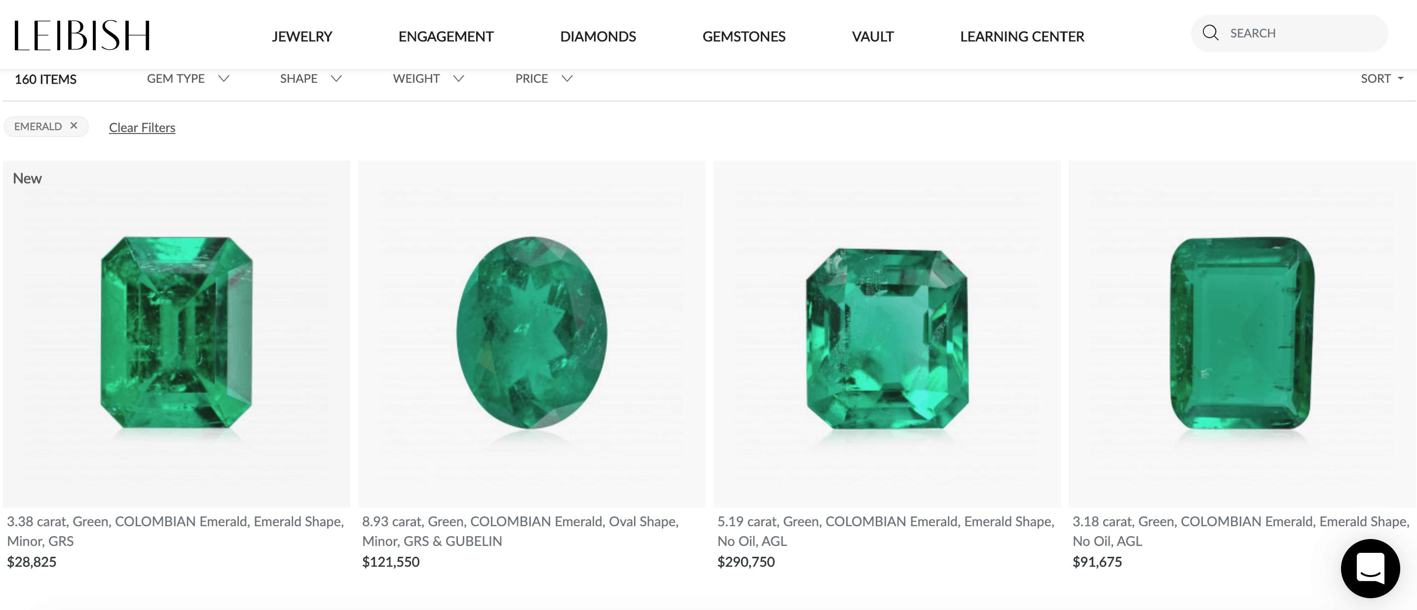 leibish & co emerald jewelry