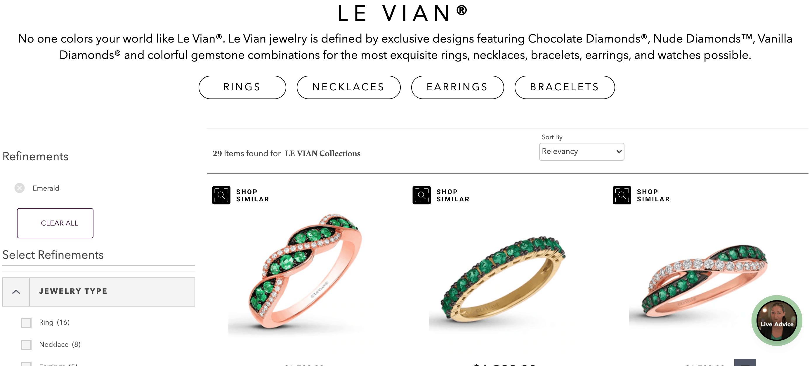 le vian emerald bracelets