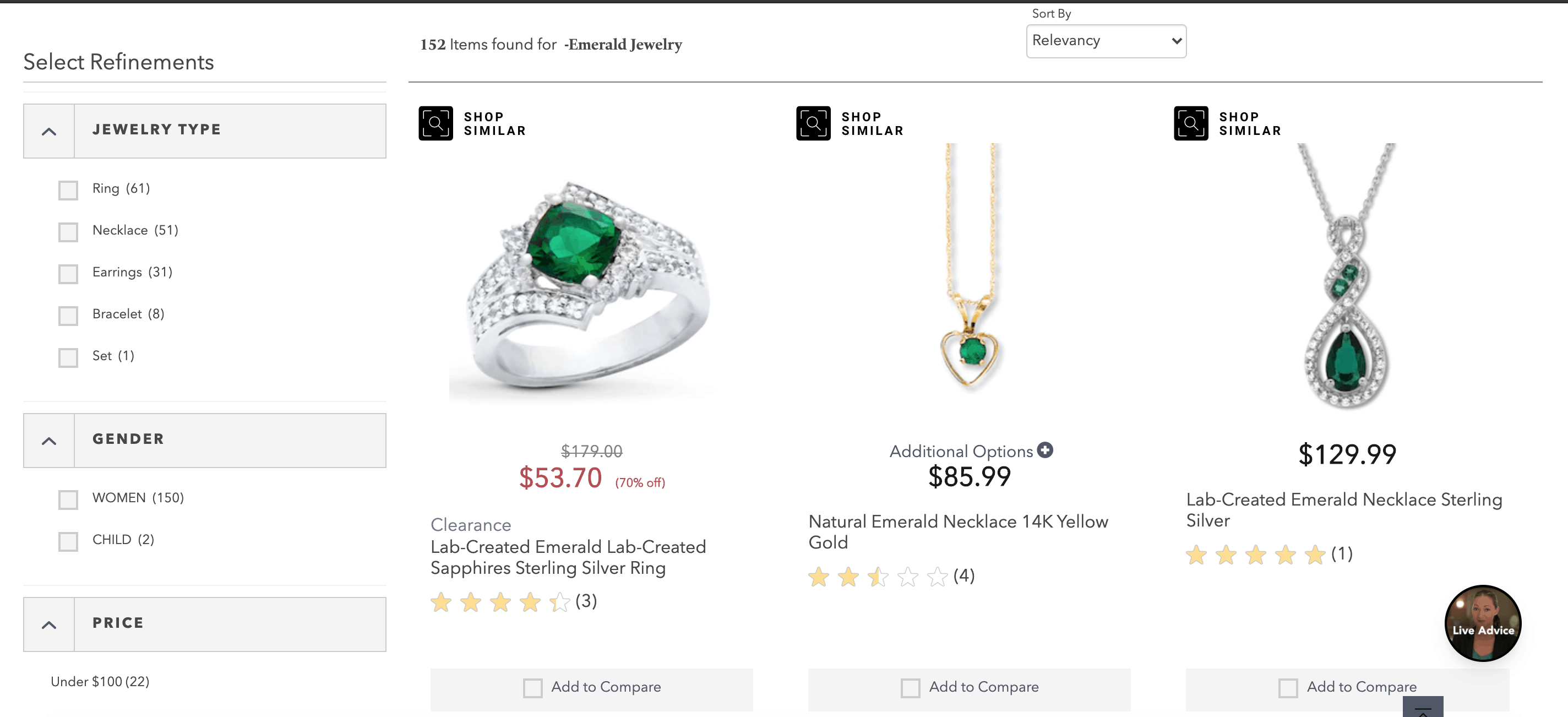 kay emerald jewelry