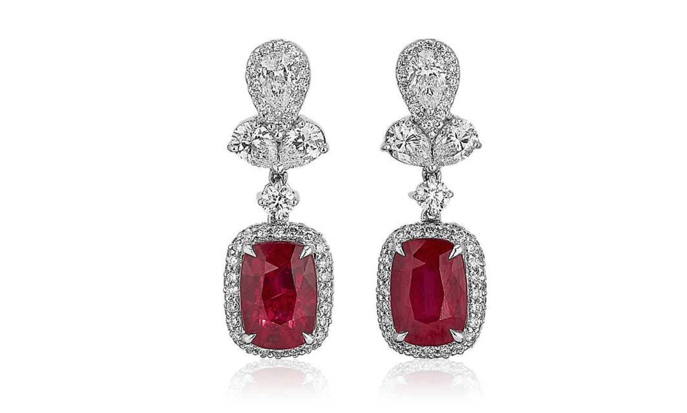 blue nile ruby earrings