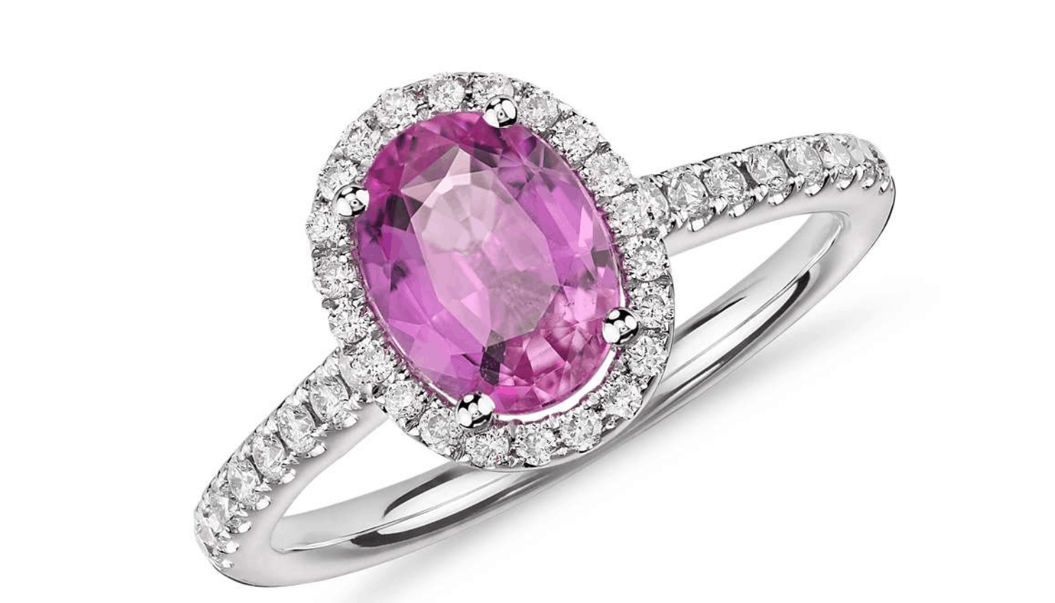 blue nile pink sapphire diamond ring