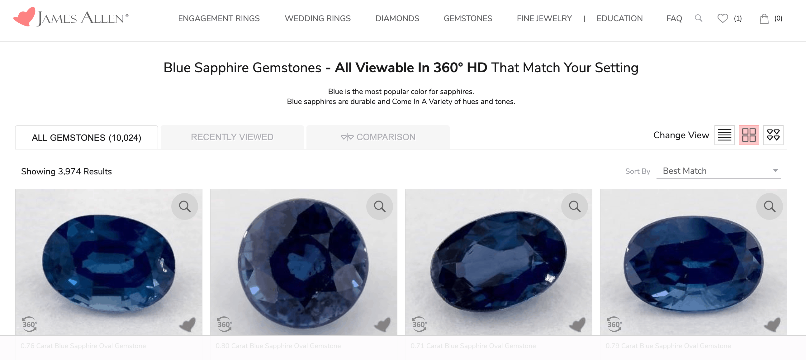 james allen sapphire gemstones online