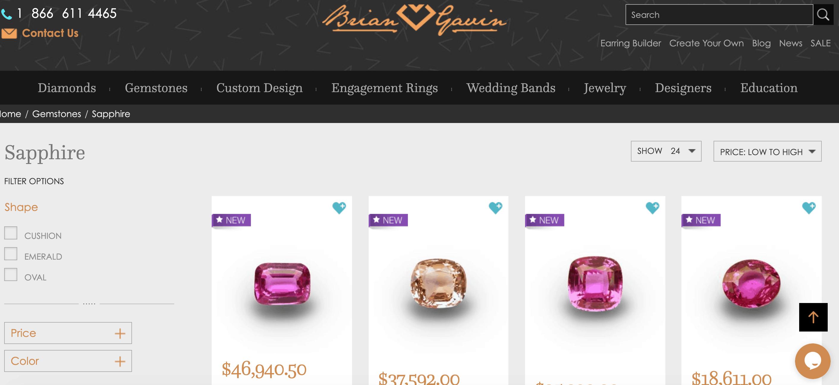 brian gaving sapphire jewelry