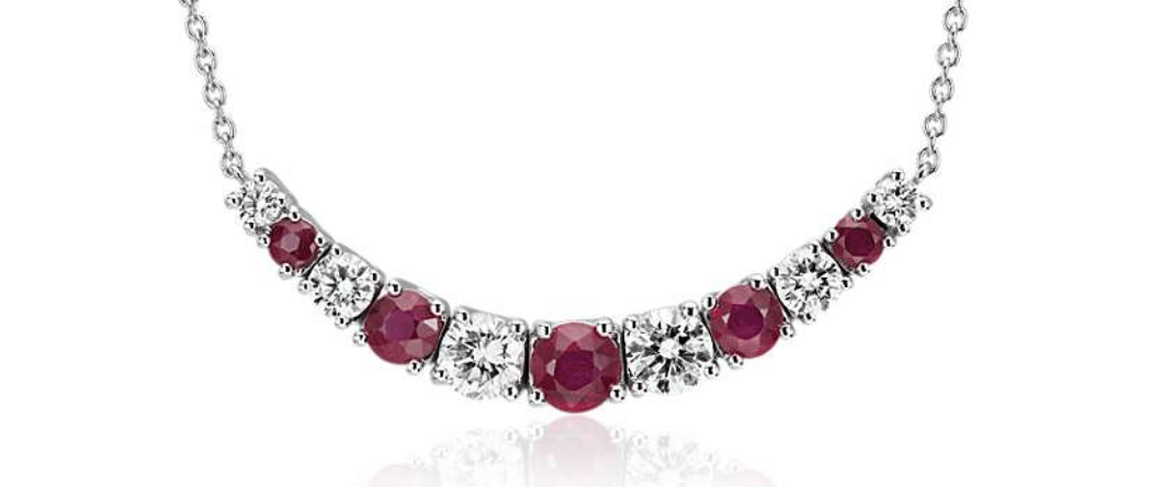 blue nile ruby and diamond necklace