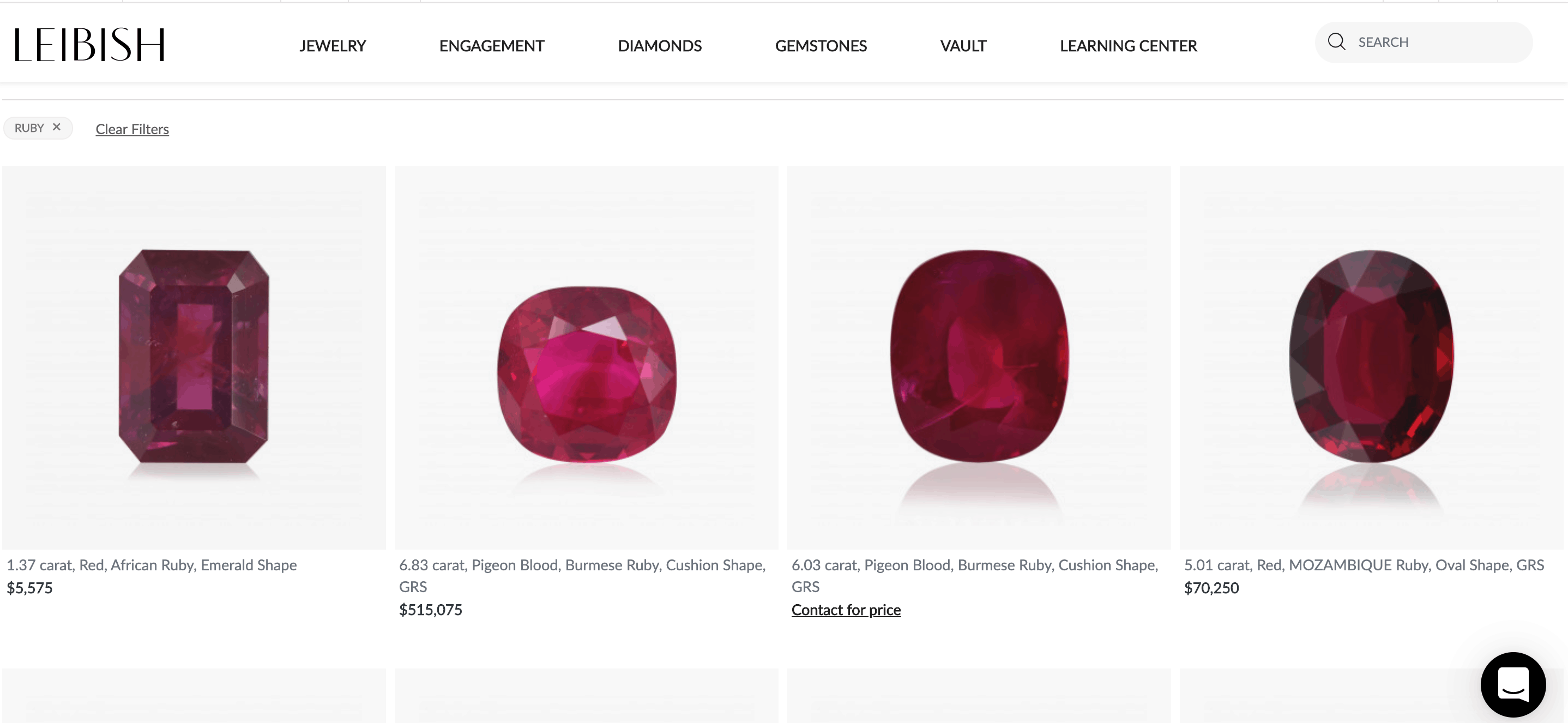 leibish ruby gemstones