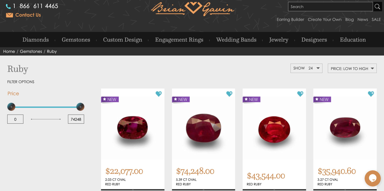 brian gavin ruby jewelry