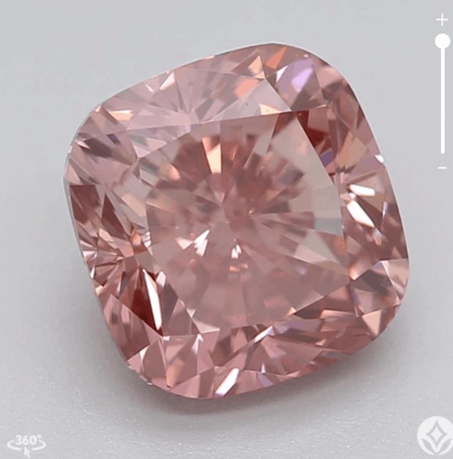 pink diamond with purple overtone