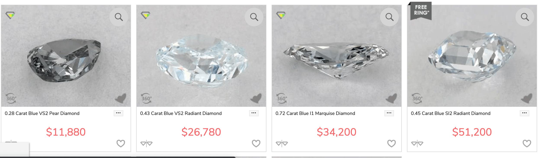 James Allen blue diamonds