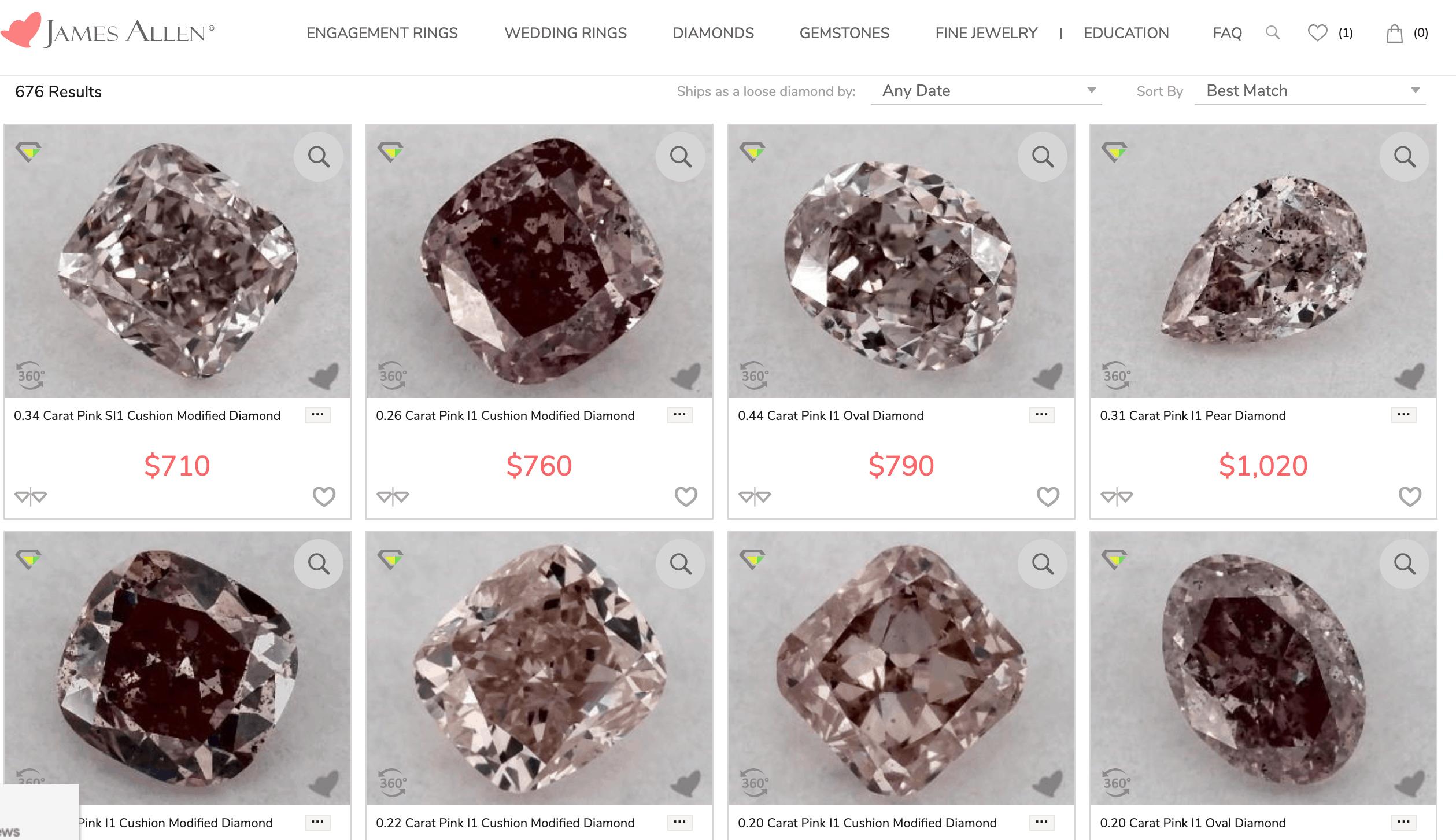 Buying Pink Diamonds At James Allen