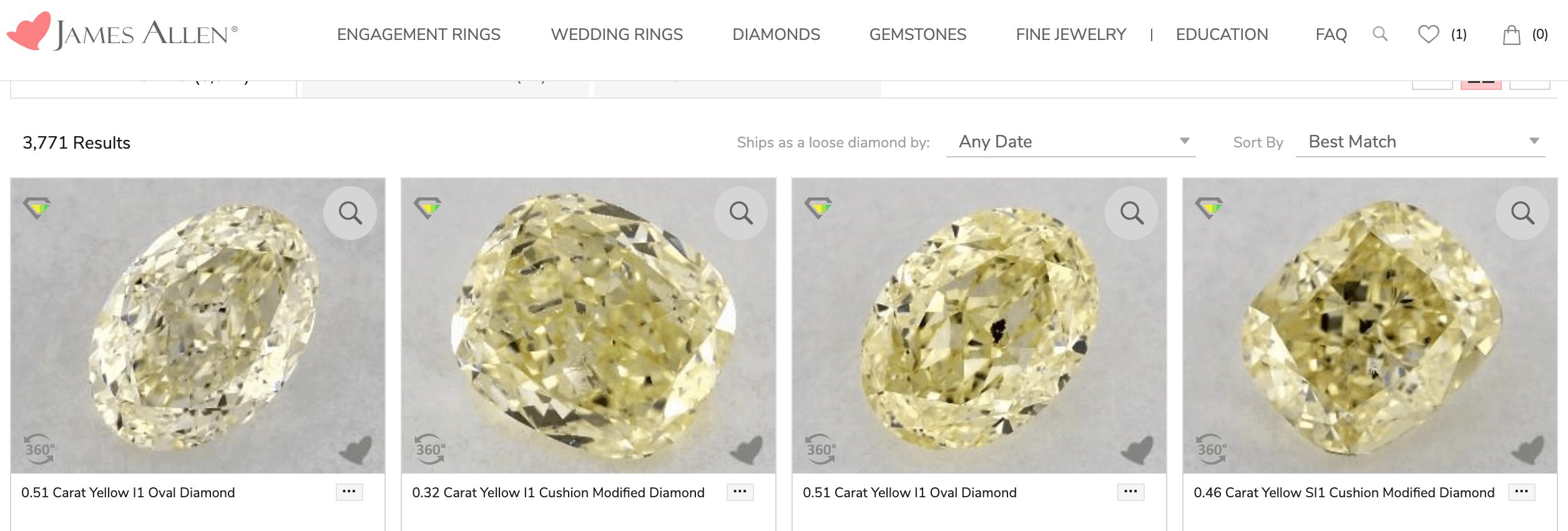 Buying Yellow Diamonds at James Allen