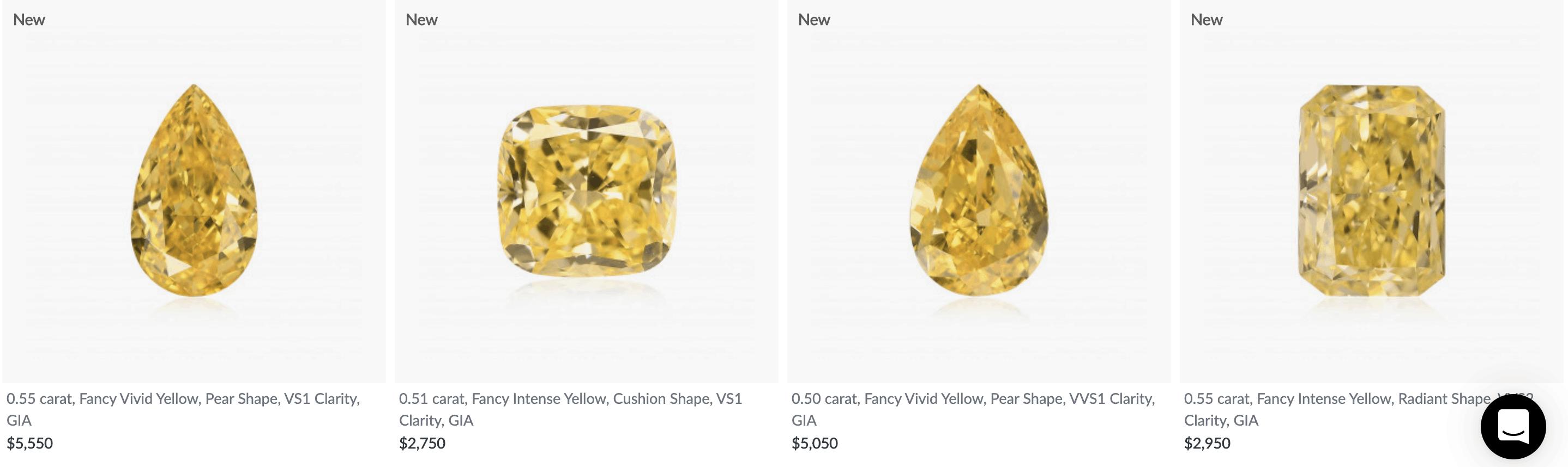 Canary Yellow Diamonds