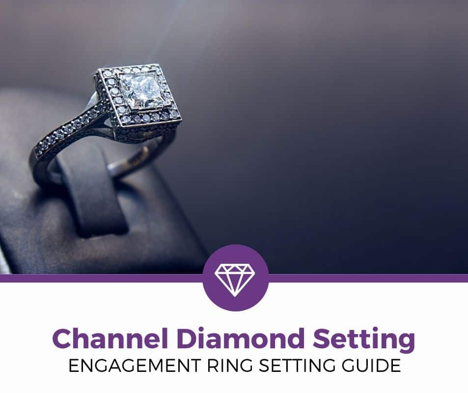 channel diamond setting