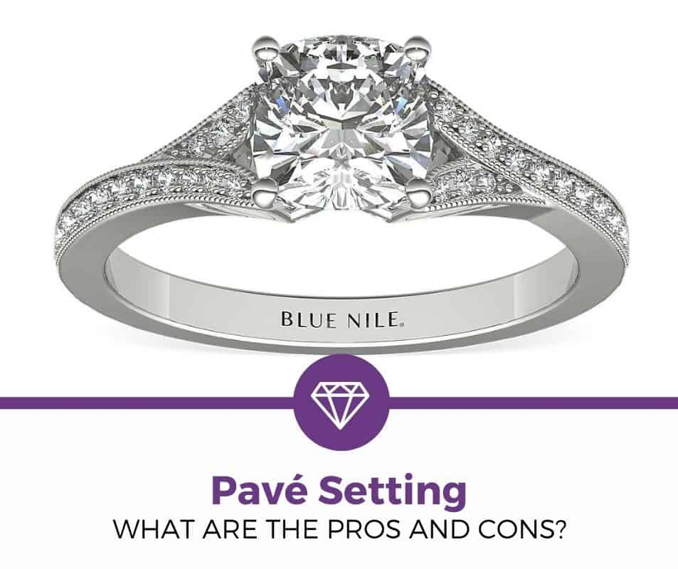 Pavé Setting engagement ring pros and cons