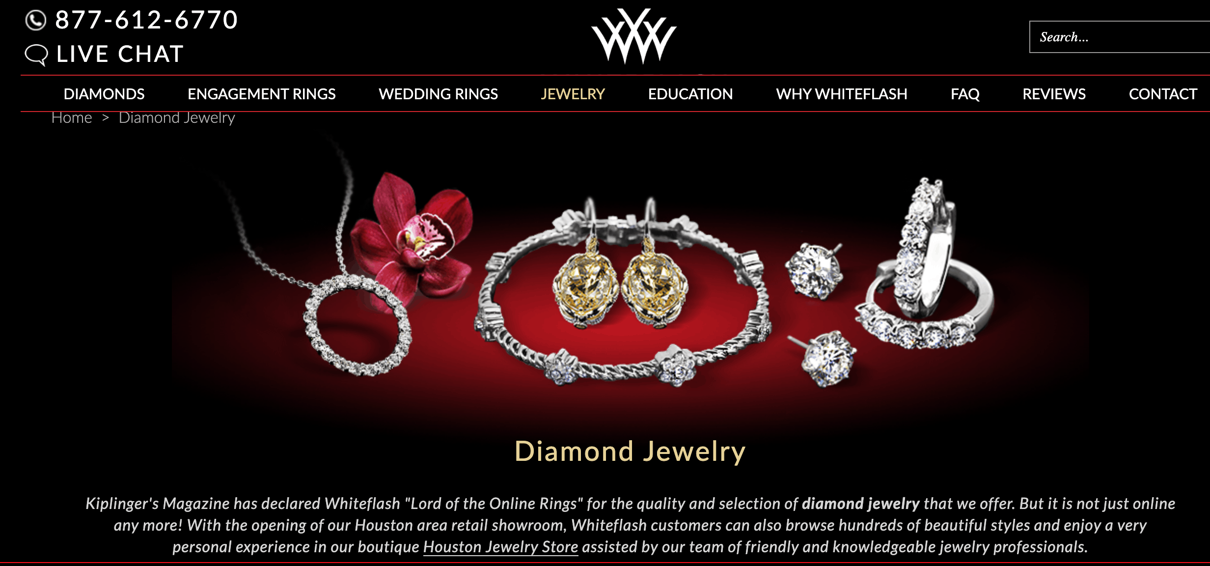 White Flash Diamond Jewelry