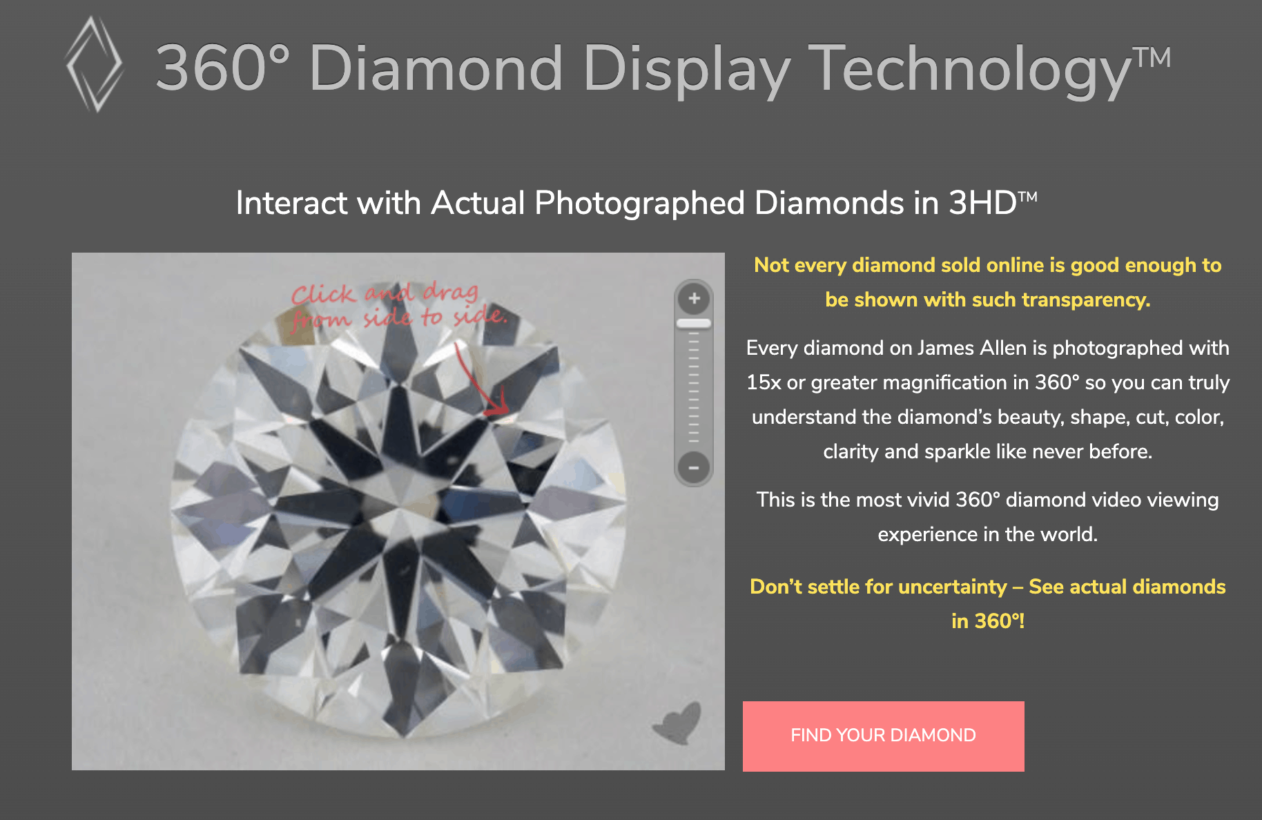 james allen diamond display technology