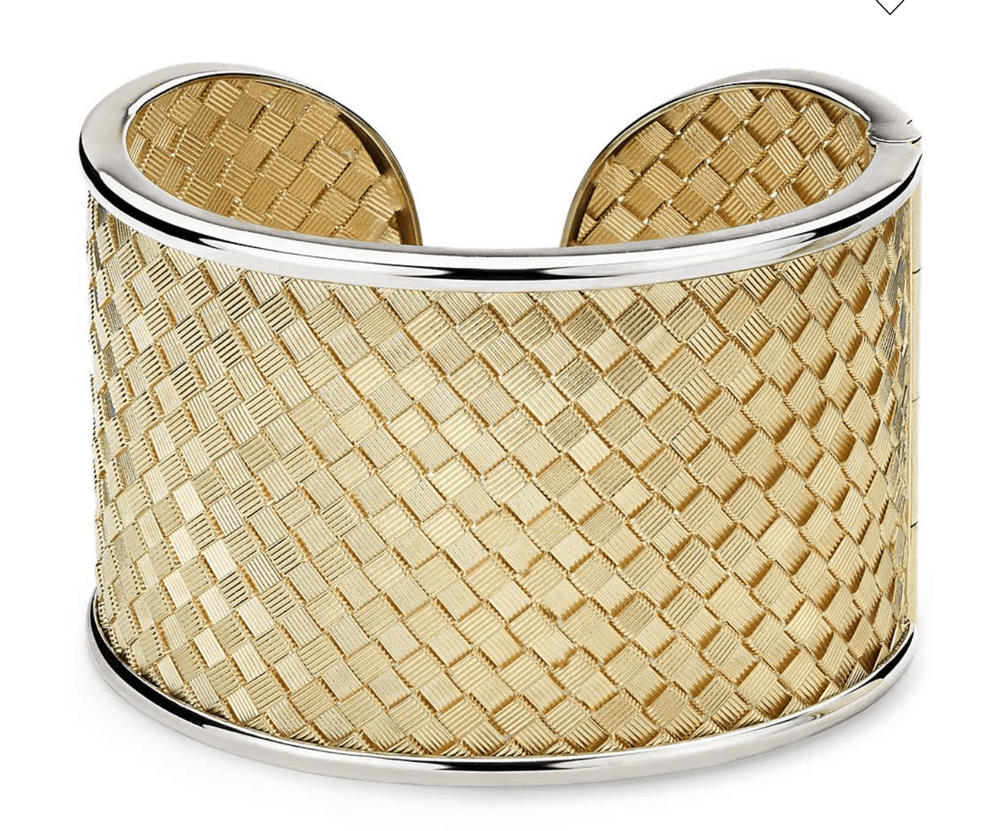 Two-Tone Golden Weave Cuff