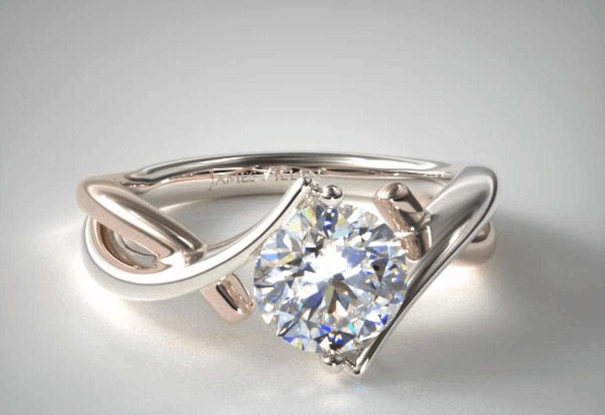 james allen 14k gold engagement ring