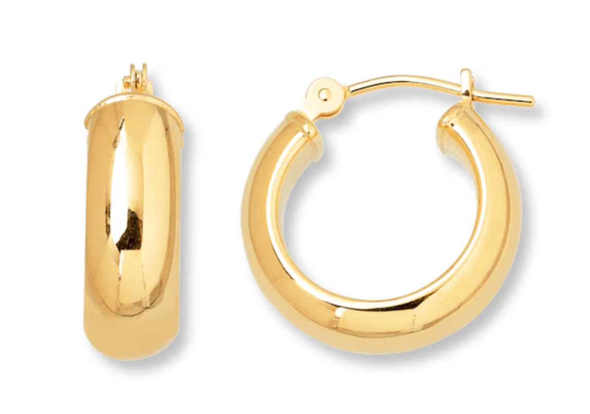 kay outlet 14k yellow gold earrings