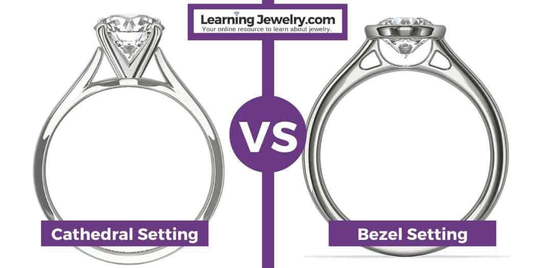 cathedral setting vs bezel setting