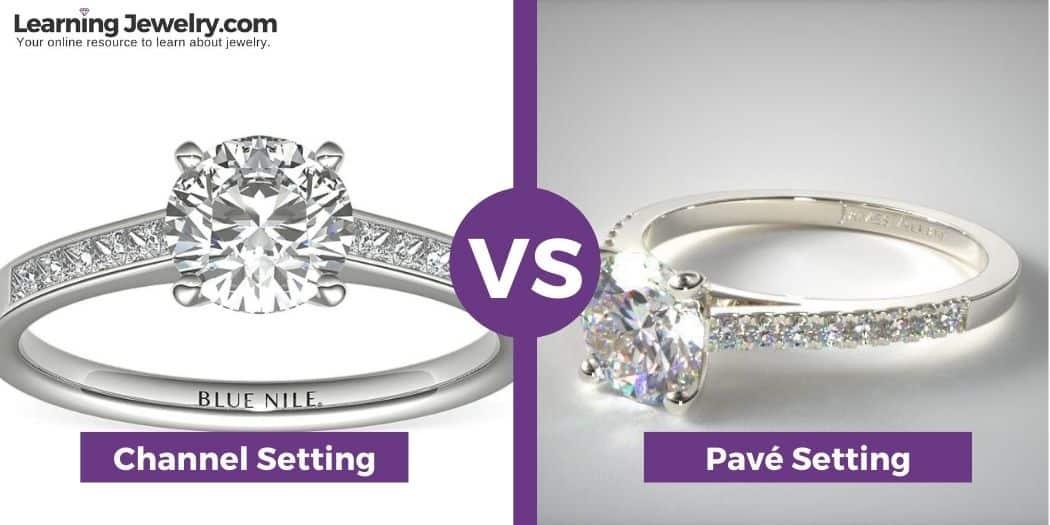 channel setting vs Pavé setting