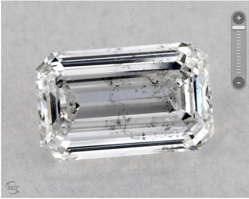 I1 Clarity Emerald Cut Diamond