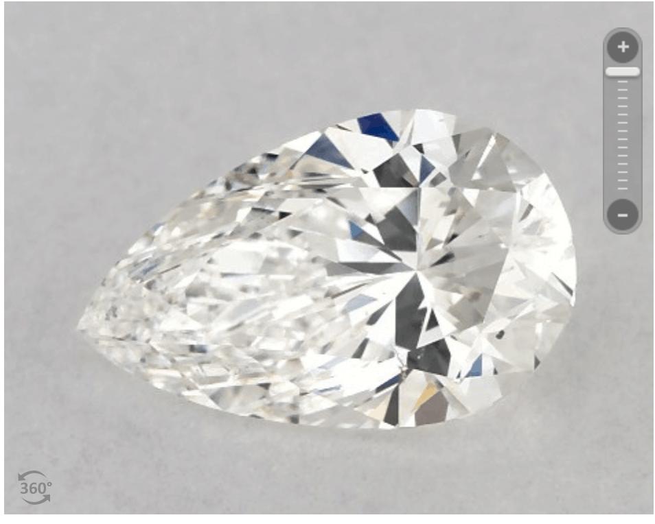 James Allen pear-shaped diamond