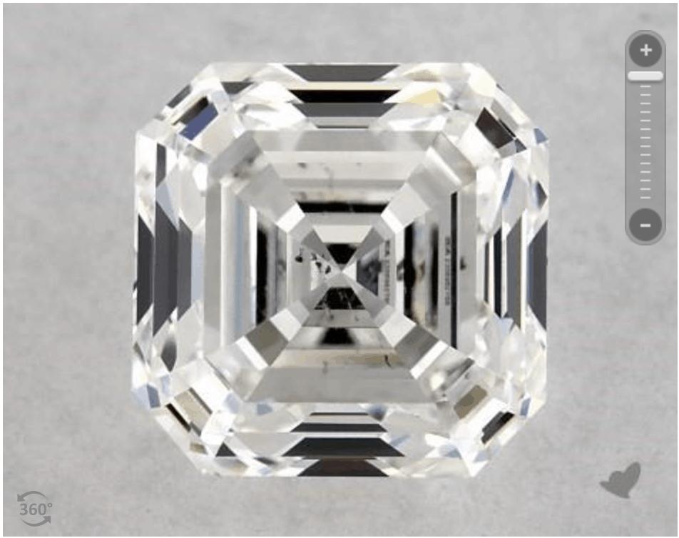 Asscher cut diamond at James Allen