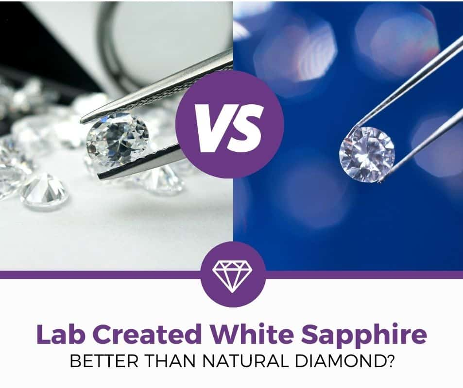 lab create white sapphire vs natural diamond