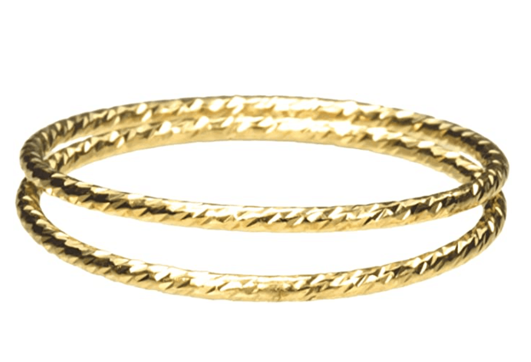 uGems 2 14K Gold Filled Sparkle Stacking Rings