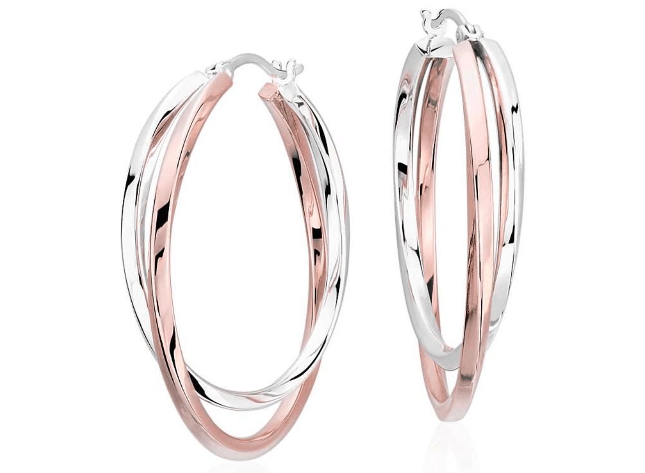 Intertwining Hoop Earrings